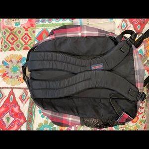 Great shape Jansport plaid backpack